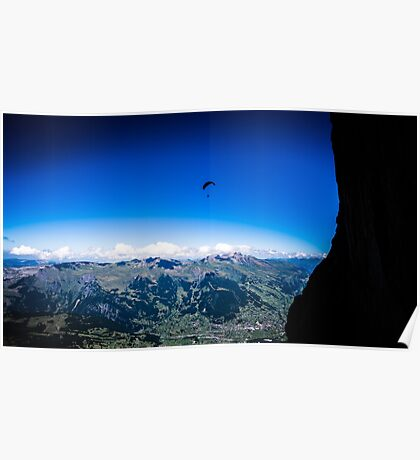 Paraglider on The Eiger Poster