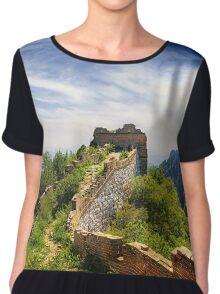 Wild Great Wall of China - Panoramic Chiffon Top