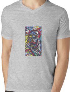 Deep Neural Hokusai Mens V-Neck T-Shirt