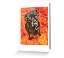 Rescue dog Rose Greeting Card