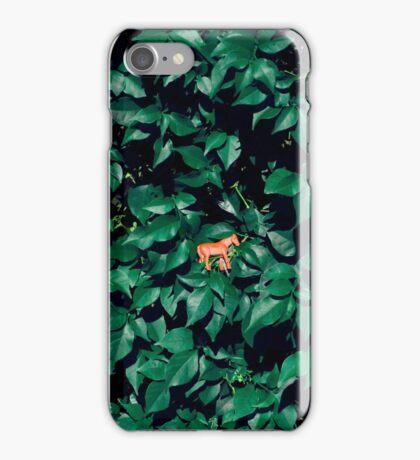 Orange horse in the bush iPhone Case/Skin