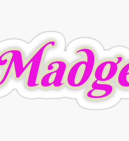 Madge Sticker