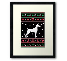 Great Dane Ugly Christmas Sweater Framed Print