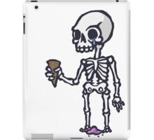 Skeleton Ice Cream  iPad Case/Skin