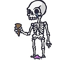 Skeleton Ice Cream  Photographic Print