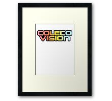Retro Coleco Vision logo Framed Print