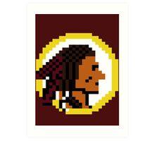 Throwback Redskins 8Bit - 3squire Art Print