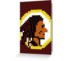 Throwback Redskins 8Bit - 3squire Greeting Card