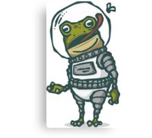 Spacesuit Frog Canvas Print