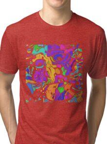 Deep Neural Hokusai 2 Tri-blend T-Shirt