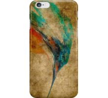 Kingfisher acrylics on paper textures iPhone Case/Skin