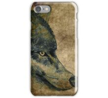Wolf acrylics on paper textures iPhone Case/Skin