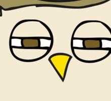cartoon clever owl Sticker