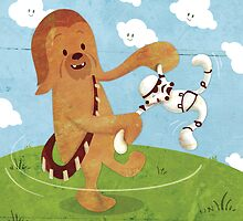 Star Wars babies - inspired by Chewbacca by GinormousRobot