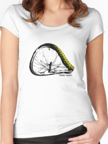 twisted wheels: bent wheel Women's Fitted Scoop T-Shirt