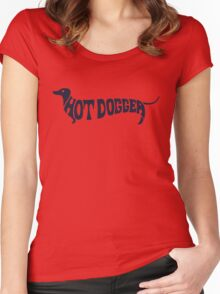 Hot Dog Funny 70s shirt Women's Fitted Scoop T-Shirt