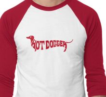 Hot Dog Funny 70s shirt - Red Men's Baseball ¾ T-Shirt