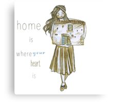 Tiny house lady Canvas Print