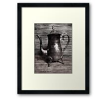 Sip of tea (grey scale) Framed Print