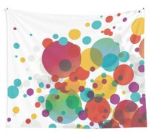 Boucing Bubble Abstract Design Wall Tapestry