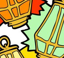 cartoon christmas lanterns Sticker