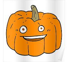 cartoon halloween pumpkin Poster