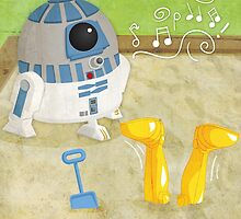 Star Wars babies - inspired by R2-D2 and C-3PO by GinormousRobot