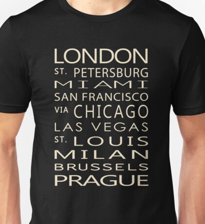 Classic Cities Old Bus Sign Unisex T-Shirt
