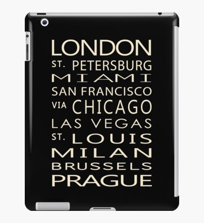 Classic Cities Old Bus Sign iPad Case/Skin