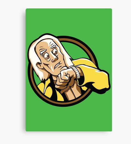 Time Travelers, Series 1 - Doc Brown (Alternate) Canvas Print