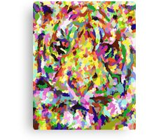 Painting Tiger Canvas Print