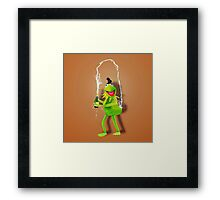Kim kermit  Framed Print