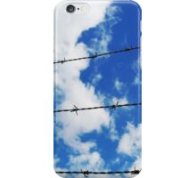 escape wording on blue sky background iPhone Case/Skin