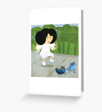 Star Wars babies - inspired by Princess Leia Greeting Card