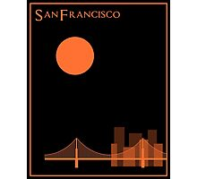 San Francisco Minimalist Travel Poster Photographic Print