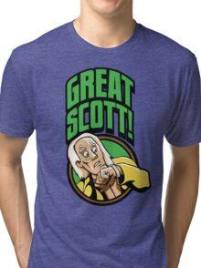 Time Travelers, Series 1 - Doc Brown (Alternate 2) Tri-blend T-Shirt