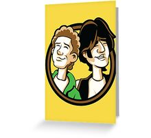 Time Travelers, Series 2 - Bill & Ted (Alternate) Greeting Card