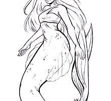 Inktober Mermaid by wiispe