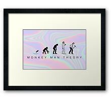 evolution theory Framed Print