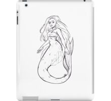 Inktober Mermaid iPad Case/Skin