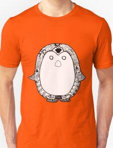 Hipster Penguin Zentangle T-Shirt
