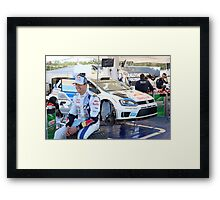Interview with a driver Framed Print