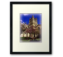 Tranquil Cafe Framed Print
