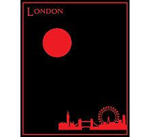 London Minimalist Travel Poster Photographic Print