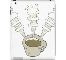 cartoon hot coffee mug iPad Case/Skin