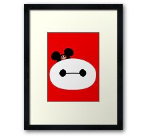 Baymax Head with Mickey Mouse Ears Framed Print