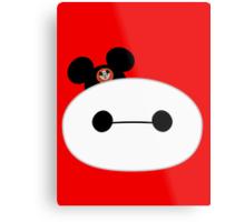 Baymax Head with Mickey Mouse Ears Metal Print