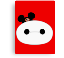 Baymax Head with Mickey Mouse Ears Canvas Print
