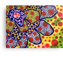 Funky Flower of Dots Canvas Print
