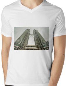 Petronas Twin Tower Mens V-Neck T-Shirt